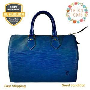 🌻💯 LOUIS VUITTON SATCHEL SPEEDY 30 epi blue